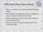 nw salary plan control setup
