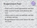 reappointment panel