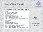 search view creation