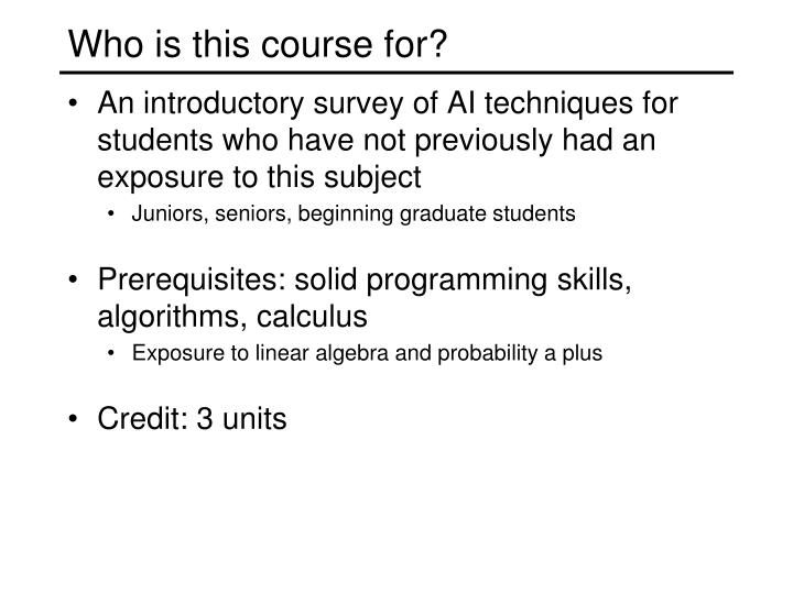 Who is this course for