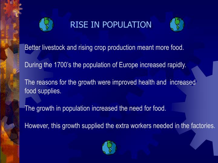 RISE IN POPULATION