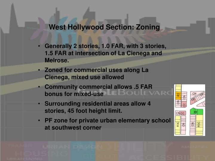 West Hollywood Section: Zoning