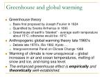 greenhouse and global warming