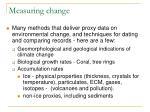 measuring change