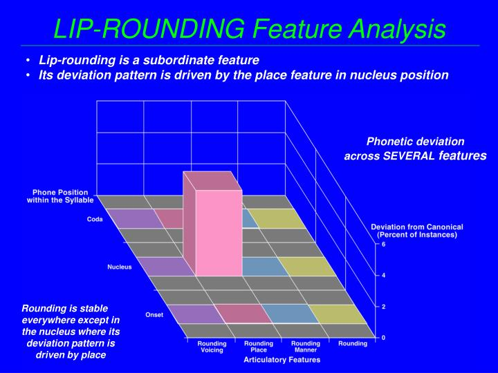 LIP-ROUNDING Feature Analysis