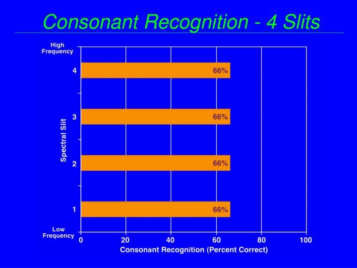 Consonant Recognition - 4 Slits