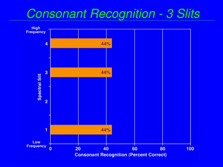 Consonant Recognition - 3 Slits