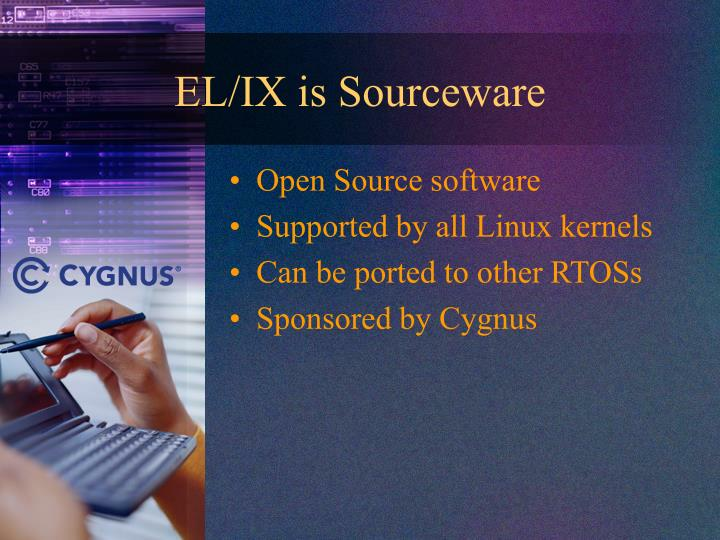 EL/IX is Sourceware