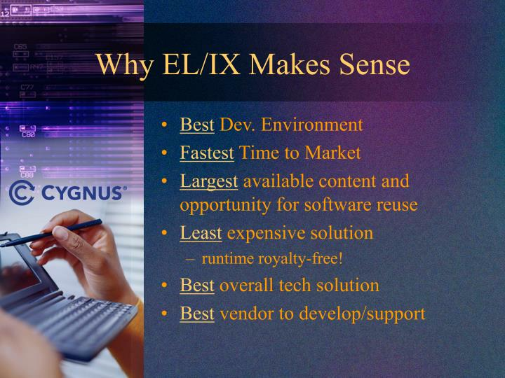 Why EL/IX Makes Sense