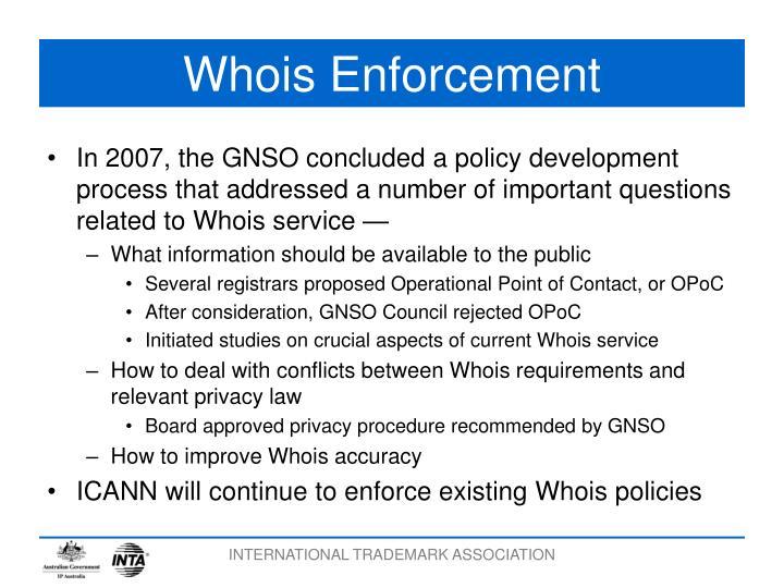 Whois Enforcement