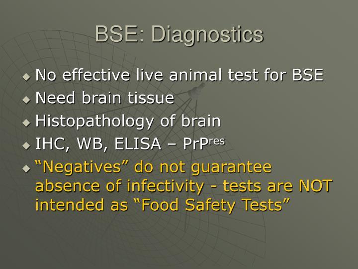 Bse diagnostics
