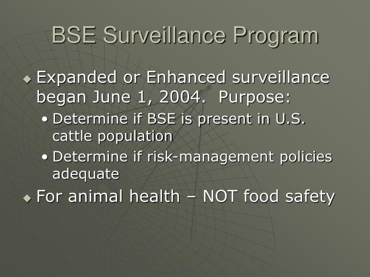 BSE Surveillance Program