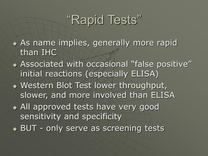 """Rapid Tests"""