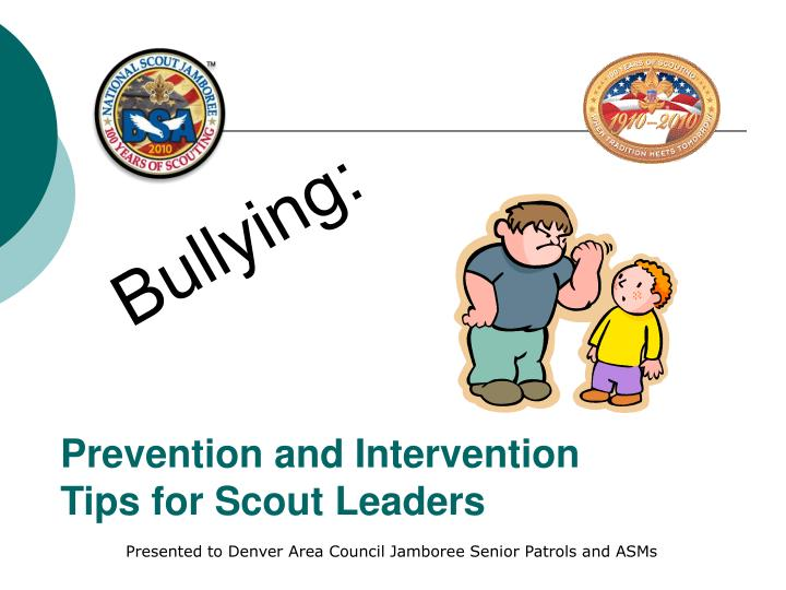Prevention and intervention tips for scout leaders