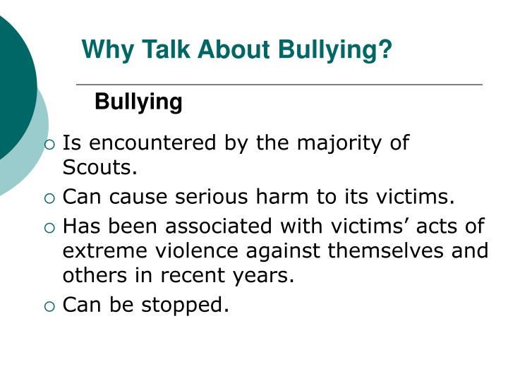 Why talk about bullying