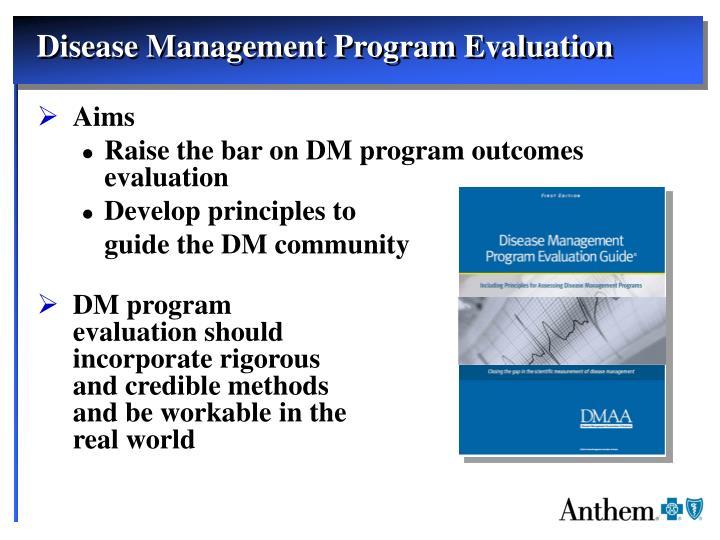 Disease Management Program Evaluation