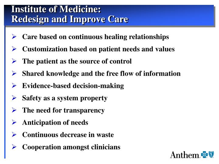 Institute of Medicine: