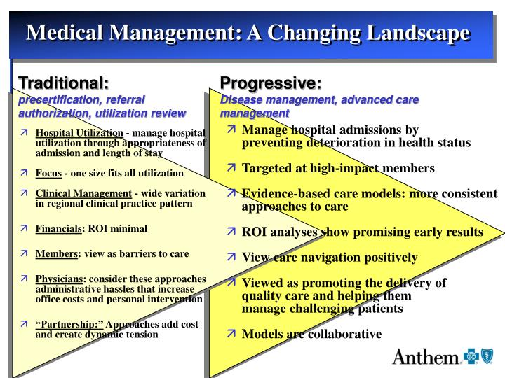 Medical Management: A Changing Landscape