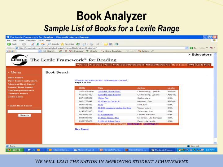 Book Analyzer