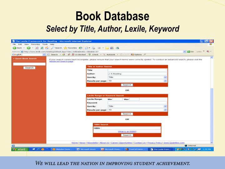 Book Database