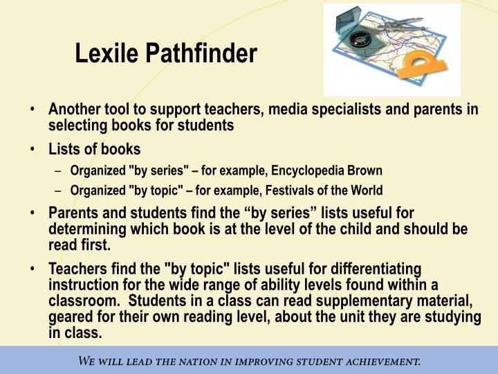 Lexile Pathfinder