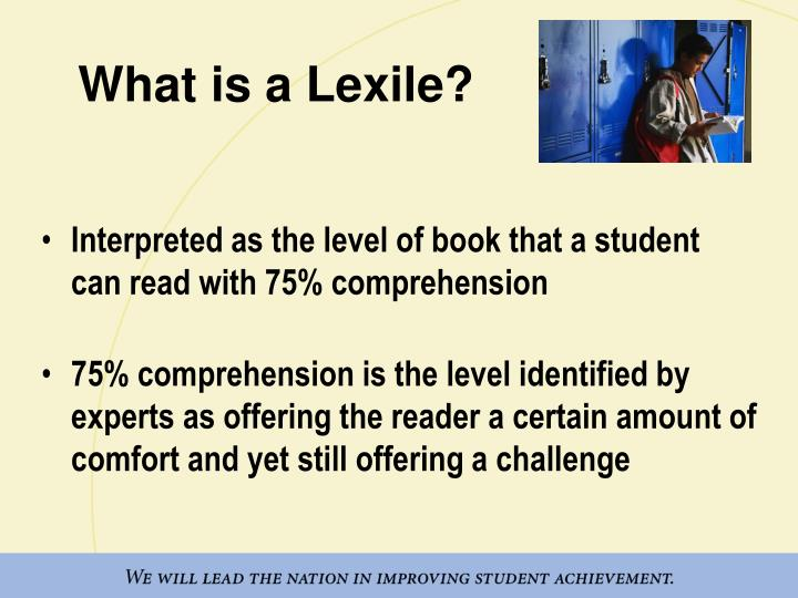 What is a Lexile?