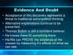 evidence and doubt