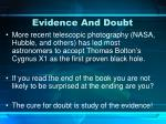 evidence and doubt1