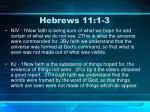 hebrews 11 1 3