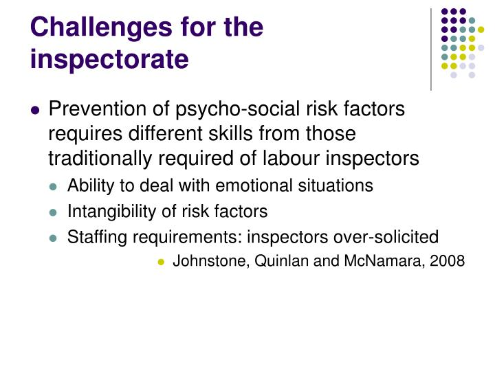 Challenges for the inspectorate