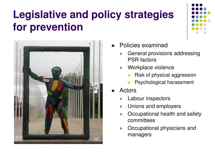 Legislative and policy strategies for prevention