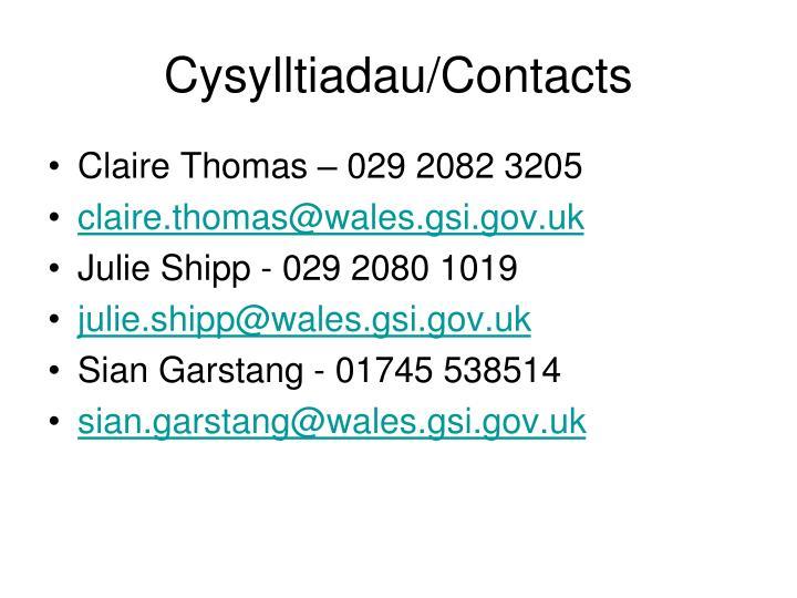 Cysylltiadau/Contacts