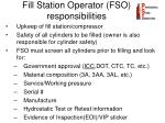fill station operator fso responsibilities