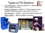 types of fill stations