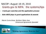nacop august 18 19 2010 grants gov nifa the systems tips