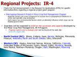 regional projects ir 4
