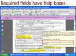 required fields have help boxes