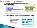 what s listed in grants gov