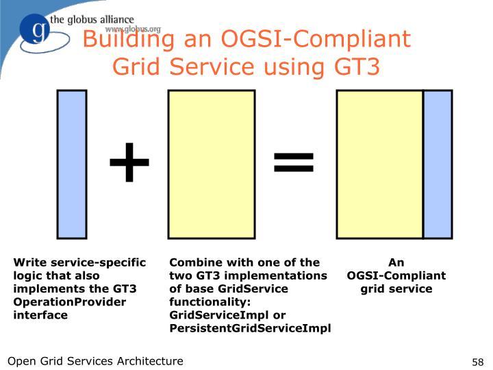 Building an OGSI-Compliant