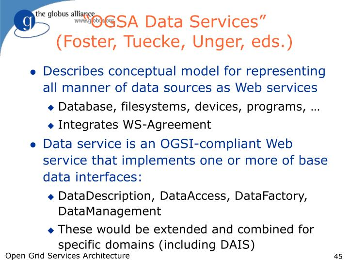"""OGSA Data Services"""