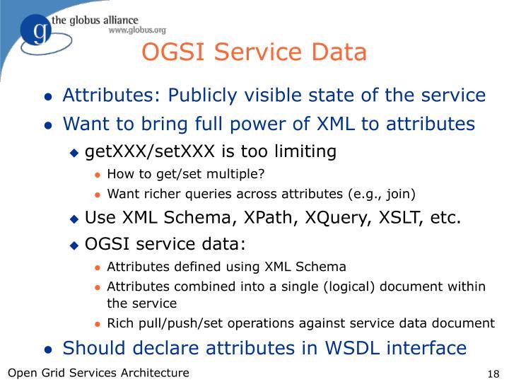 OGSI Service Data