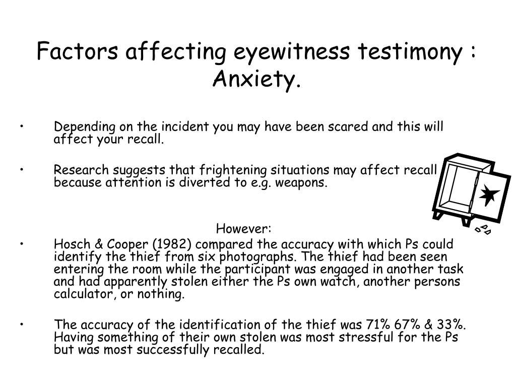 Dissertation study eyewitness identification task