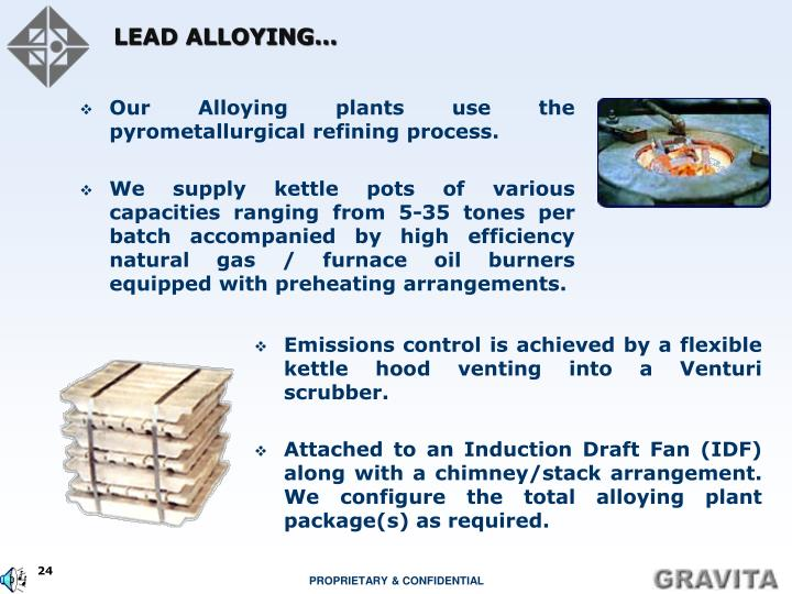 LEAD ALLOYING…