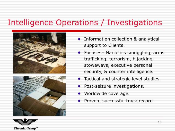 Intelligence Operations / Investigations