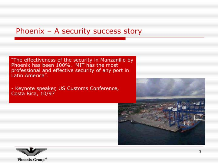 Phoenix a security success story