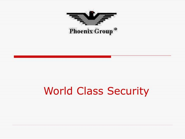 World Class Security