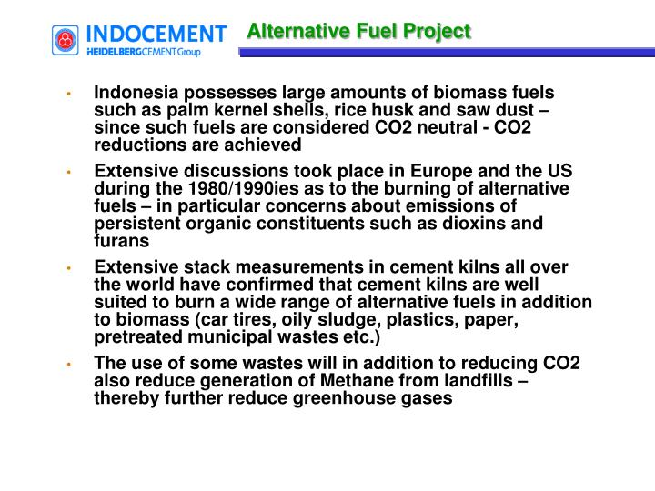 Alternative Fuel Project