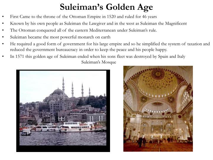 Suleiman's Golden Age