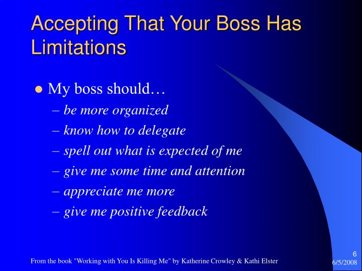 Accepting That Your Boss Has Limitations