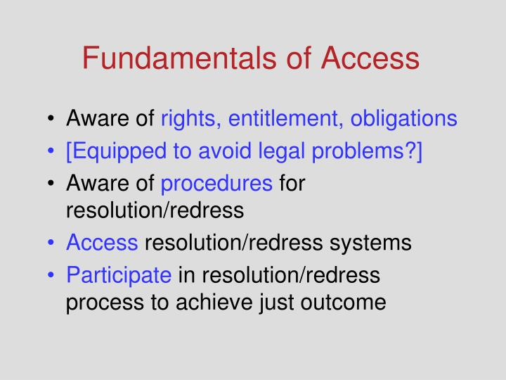 Fundamentals of Access